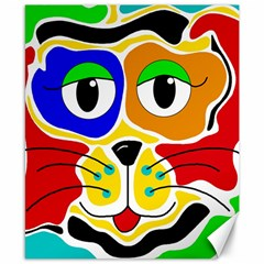 Colorful cat Canvas 8  x 10