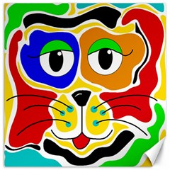 Colorful cat Canvas 12  x 12
