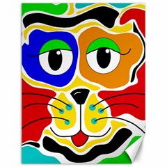 Colorful cat Canvas 12  x 16