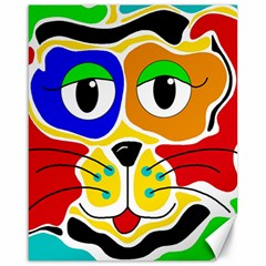 Colorful cat Canvas 16  x 20