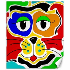 Colorful cat Canvas 20  x 24