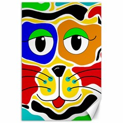 Colorful cat Canvas 24  x 36