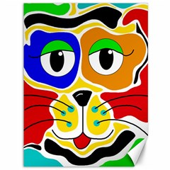 Colorful cat Canvas 36  x 48