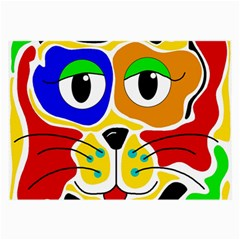 Colorful cat Large Glasses Cloth