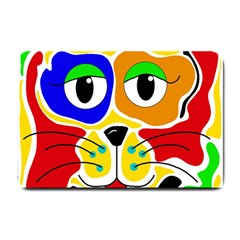 Colorful cat Small Doormat