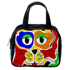 Colorful cat Classic Handbags (One Side)