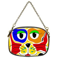 Colorful cat Chain Purses (One Side)