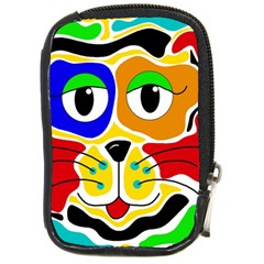 Colorful cat Compact Camera Cases