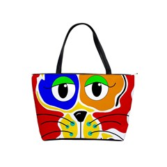 Colorful cat Shoulder Handbags