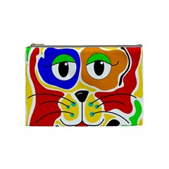 Colorful cat Cosmetic Bag (Medium)