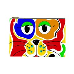 Colorful cat Cosmetic Bag (Large)