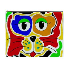 Colorful cat Cosmetic Bag (XL)