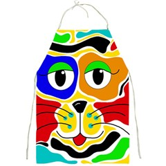 Colorful cat Full Print Aprons