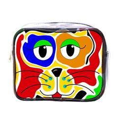 Colorful cat Mini Toiletries Bags