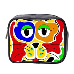 Colorful cat Mini Toiletries Bag 2-Side