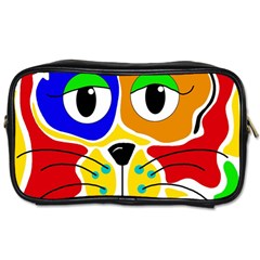 Colorful cat Toiletries Bags 2-Side