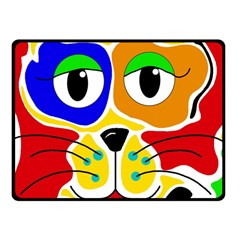 Colorful cat Fleece Blanket (Small)