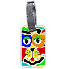 Colorful cat Luggage Tags (One Side)