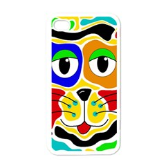 Colorful cat Apple iPhone 4 Case (White)