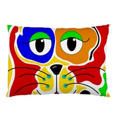 Colorful cat Pillow Case (Two Sides)
