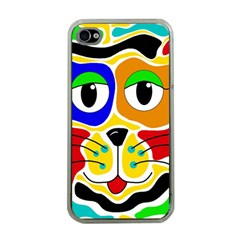 Colorful cat Apple iPhone 4 Case (Clear)