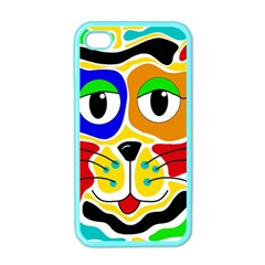 Colorful cat Apple iPhone 4 Case (Color)