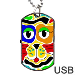 Colorful cat Dog Tag USB Flash (Two Sides)