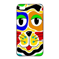 Colorful cat Apple iPhone 4/4s Seamless Case (Black)