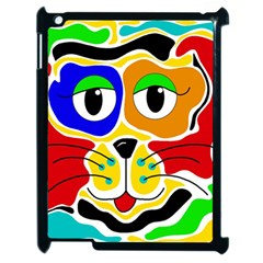 Colorful cat Apple iPad 2 Case (Black)