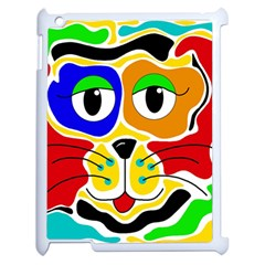 Colorful cat Apple iPad 2 Case (White)
