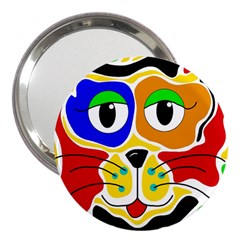 Colorful cat 3  Handbag Mirrors