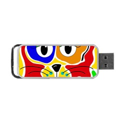 Colorful cat Portable USB Flash (One Side)