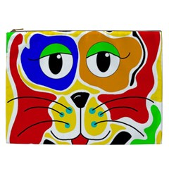 Colorful cat Cosmetic Bag (XXL)