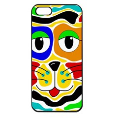 Colorful cat Apple iPhone 5 Seamless Case (Black)