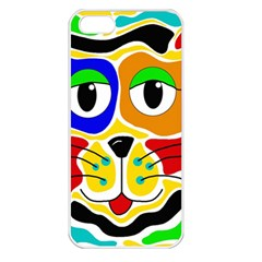 Colorful cat Apple iPhone 5 Seamless Case (White)