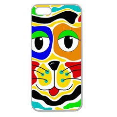 Colorful cat Apple Seamless iPhone 5 Case (Clear)