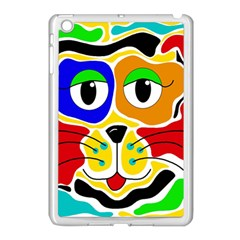 Colorful cat Apple iPad Mini Case (White)