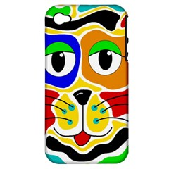Colorful cat Apple iPhone 4/4S Hardshell Case (PC+Silicone)