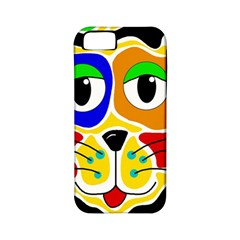 Colorful cat Apple iPhone 5 Classic Hardshell Case (PC+Silicone)