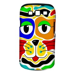 Colorful cat Samsung Galaxy S III Classic Hardshell Case (PC+Silicone)