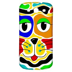 Colorful cat Samsung Galaxy S3 S III Classic Hardshell Back Case