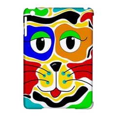 Colorful cat Apple iPad Mini Hardshell Case (Compatible with Smart Cover)