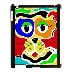 Colorful cat Apple iPad 3/4 Case (Black)