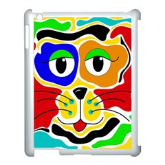 Colorful cat Apple iPad 3/4 Case (White)