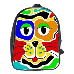 Colorful cat School Bags (XL)