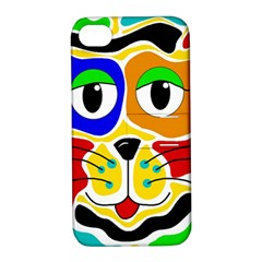Colorful cat Apple iPhone 4/4S Hardshell Case with Stand