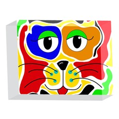 Colorful cat 5 x 7  Acrylic Photo Blocks