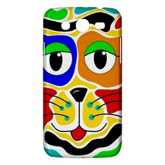 Colorful cat Samsung Galaxy Mega 5.8 I9152 Hardshell Case