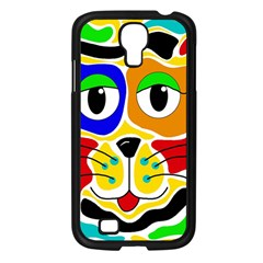 Colorful cat Samsung Galaxy S4 I9500/ I9505 Case (Black)