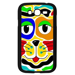 Colorful cat Samsung Galaxy Grand DUOS I9082 Case (Black)